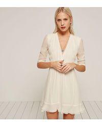 Reformation White Leah Dress