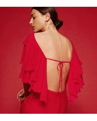 Reformation Red Angel Dress