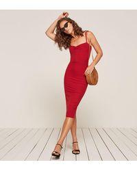 Reformation Red Caressa Dress