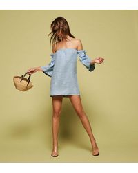 Reformation Blue Carlita Dress