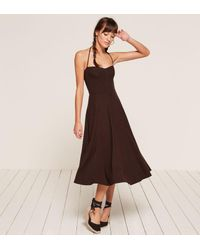 Reformation Brown Cosette Dress
