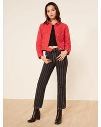 Reformation Red Ford Jacket