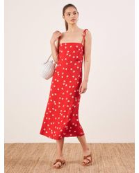 Reformation Red Finley Dress