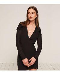 Reformation Black Elodie Dress