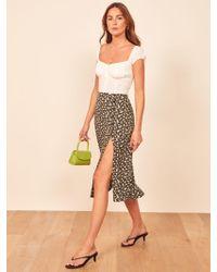 Reformation Multicolor Petites Jaime Skirt
