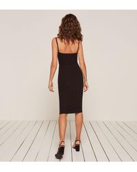 Reformation Black Caressa Dress