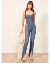 Reformation - Blue Crawford Jumpsuit - Lyst