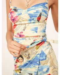 Reformation Multicolor Corfu Dress