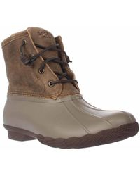 Sperry Top-Sider - Brown Sperry Saltwater Short Rain Boots - Lyst
