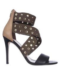 Via Spiga Tashara Evening Heel Sandals - Black Multi