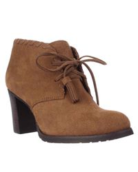 Lauren by Ralph Lauren | Brown Lauren Ralph Lauren Carla Tassel Western Boots | Lyst