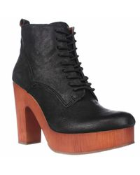 Lucky Brand | Black Tafari Plaftorm Lace Up Ankle Boots | Lyst