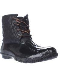 Steve Madden | Black Tillis Short Quilted Winter Rain Booties | Lyst