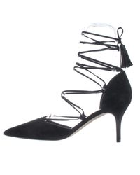Marc Fisher | Black Tamya Lace Up D'orsay Pumps | Lyst