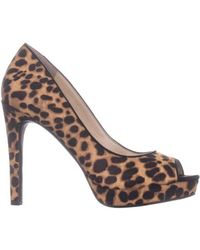 Jessica Simpson Natural Dalyn 3 Peep Toe Heels