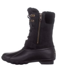 Sperry Top-Sider - Black Saltwater Misty Mid Calf Rain Boots - Lyst
