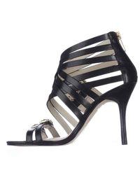 Michael Kors | Michael Ava Strappy Buckled Sandals - Black | Lyst