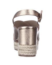 Via Spiga Metallic Triana Espadrille Slingback Wedge Sandals