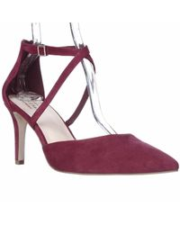 Cole Haan | Red Juliana Ankle Strap Pointed Toe Dress Pumps | Lyst