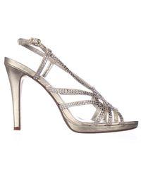 Caparros - Metallic Vega Rhinestone Studded Slingback Dress Sandals - Lyst