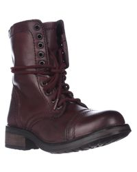 Steve Madden | Brown Tropa2 Combat Boots for Men | Lyst