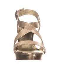 Adrianna Papell - Natural Anette Platform Dress Sandals - Lyst