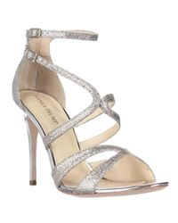 Ivanka Trump | Metallic Hotis2 Strappy Dress Sandals - Gold | Lyst
