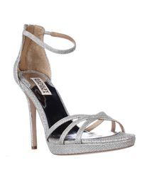 Badgley Mischka | Metallic Signify Platform Ankle Strap Sandals | Lyst