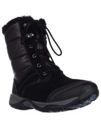 Easy Spirit | Black Erle Lace-up Winter Boots | Lyst