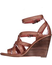 COACH - Brown Dawn Strappy Wedge Sandals - Lyst
