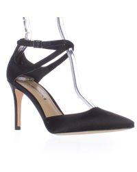Via Spiga | Black Chera Pointed-toe Ankle Strap Pump Heels | Lyst