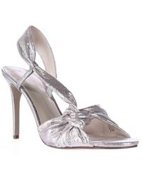 Nine West | Metallic Ultana Heeled Dress Sandals | Lyst