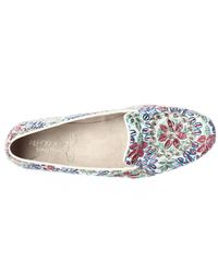 Aerosoles - Betunia Embroidered Slip-on Loafers, White - Lyst
