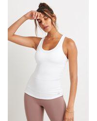 Alo Yoga - Harmony Tank White - Lyst