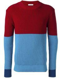 J.W. Anderson - Blue Colour Block Jumper for Men - Lyst