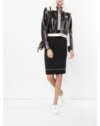 Givenchy Multicolor Studded Pencil Skirt