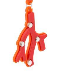 Yazbukey - Orange Plexi Glass Earrings - Lyst