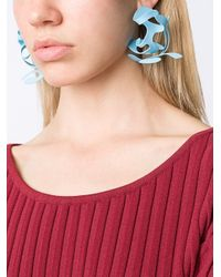 Rosie Assoulin - Blue Abstract Earrings - Lyst
