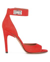 Givenchy Red Shark Lock Sandals