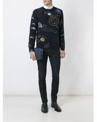 Valentino Multicolor Cosmo Stitch Jumper for men
