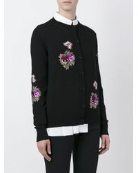 Givenchy Multicolor Floral Embroidered Cardigan