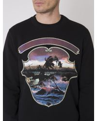 Givenchy Black Printed Sweatshirt for men