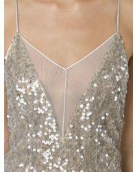Galvan - Multicolor Open Back Sequined Dress - Lyst