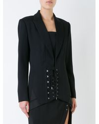 Anthony Vaccarello Multicolor Corset Waist Jacket
