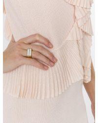 Aurelie Bidermann - Metallic Gold Plated 'bianca' Mirror Ring - Lyst