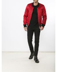Balmain Multicolor Quilted Logo Patch Jacket for men