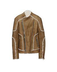 Balmain Blue Biker Jacket for men