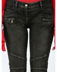 Balmain Multicolor Skinny Biker Jeans