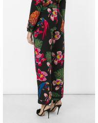Valentino - Multicolor Tropical Dream-print Silk Crepe De Chine Trousers - Lyst