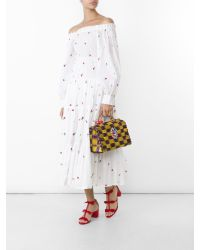SUNO | White Embroidered Smocked Maxi Skirt | Lyst